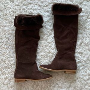 Colin Stuart Over the Knee Suede Boots